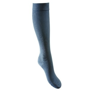 Lightweight compression socks suitable for regeneration and when sitting or standing for long periods - colour: jean blue