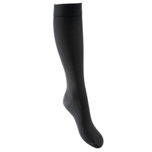 Lightweight compression socks suitable for regeneration and when sitting or standing for long periods - colour: dark grey