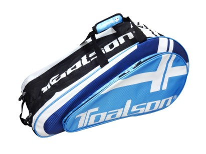 TOALSON lightweight tennis racket bag for 9 tennis rackets in the colours blue and black