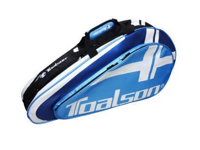 TOALSON light Tennis Racket Bag for 3 tennis rackets in colour black and blue