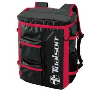 TOALSON tennis / laptop backpack with plenty of space and pockets - colour: red/black/blue