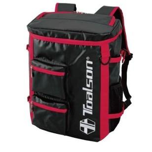 TOALSON Tennis / Laptop Rucksack mit viel Platz und Taschen - Farbe: rot/schwarz/blau