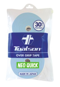 Toalson NEO QUICK Zipper Overgrips - 30pcs Perforated Tennis Grip Tapes