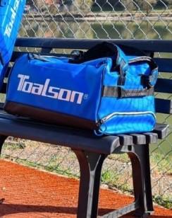 TOALSON Duffle Bag - Tennis Sports Travel Tournament Bag/Backpack blue