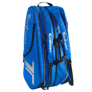 TOALSON Tournament Tennis Racket Bag blue - plenty of space for tennis rackets, shoes, accessories